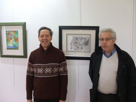Avec le peintre Américain Jean Noël Vandaele